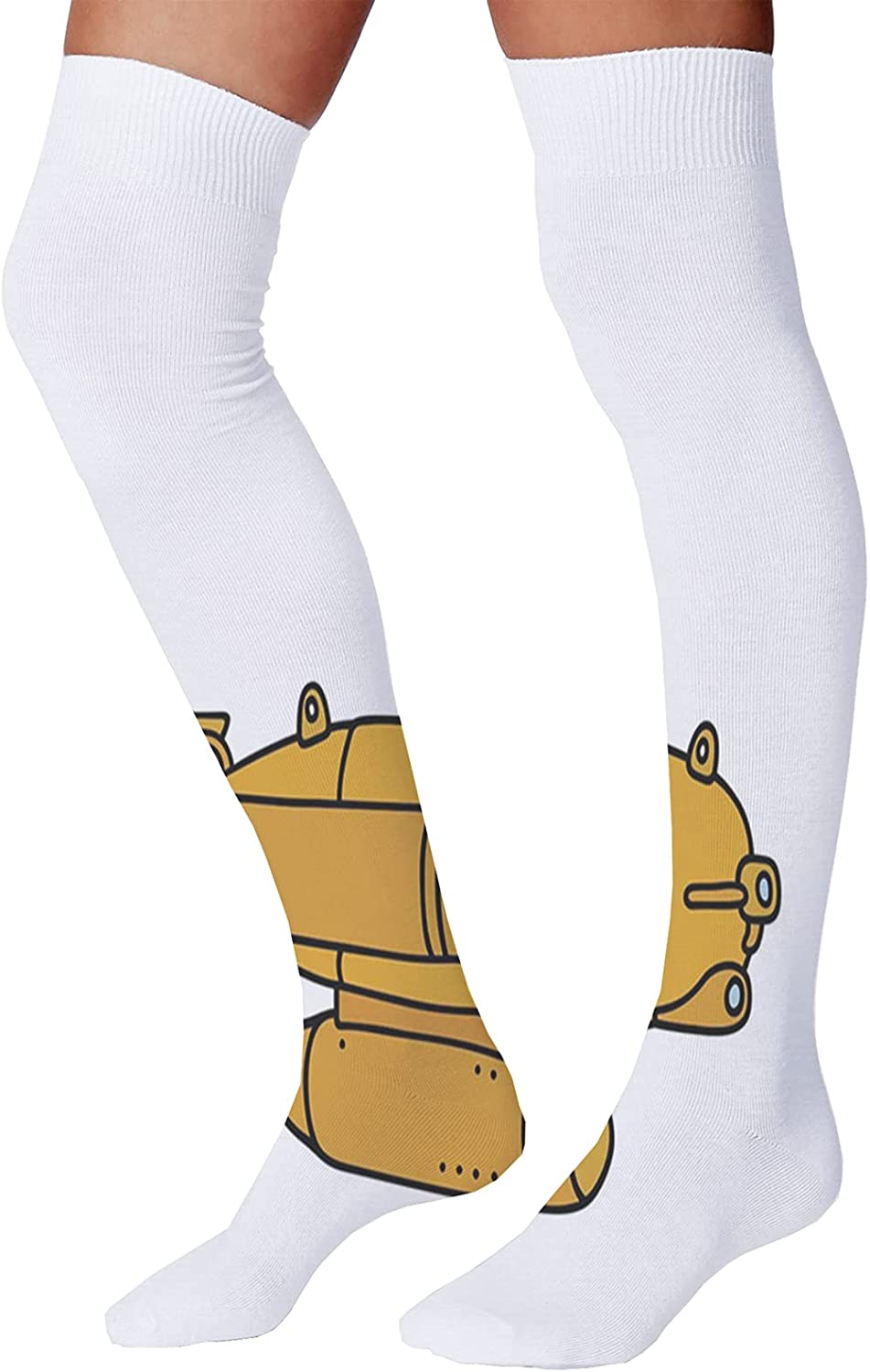 Men's and Women's Fun Socks,Abstract and Artistic Astrology Design with Man Woman Day and Night Concepts
