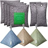 HBselect Bolsa De Carbón Pack 9,Purificación De Aire Carbón De Bambú,Neutralizador De Olores Ambientador Baño Ambientador Armario