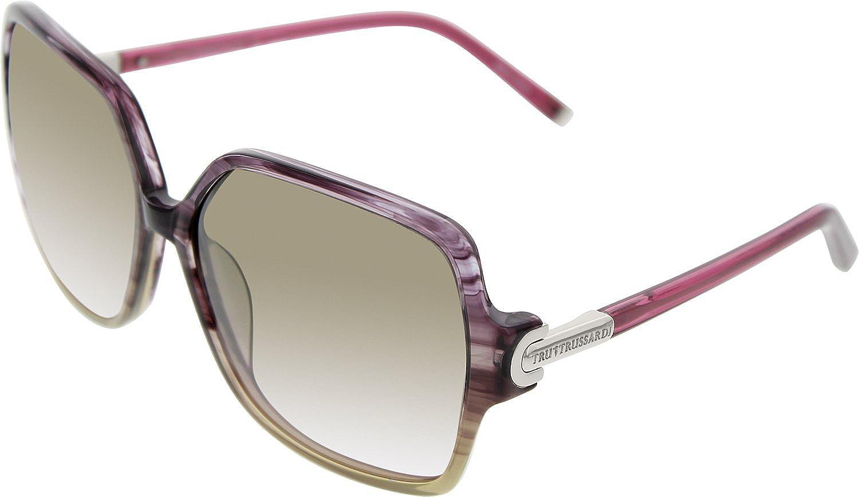 Trussardi Women's 12829GN59 14 Purple Square Sunglasses