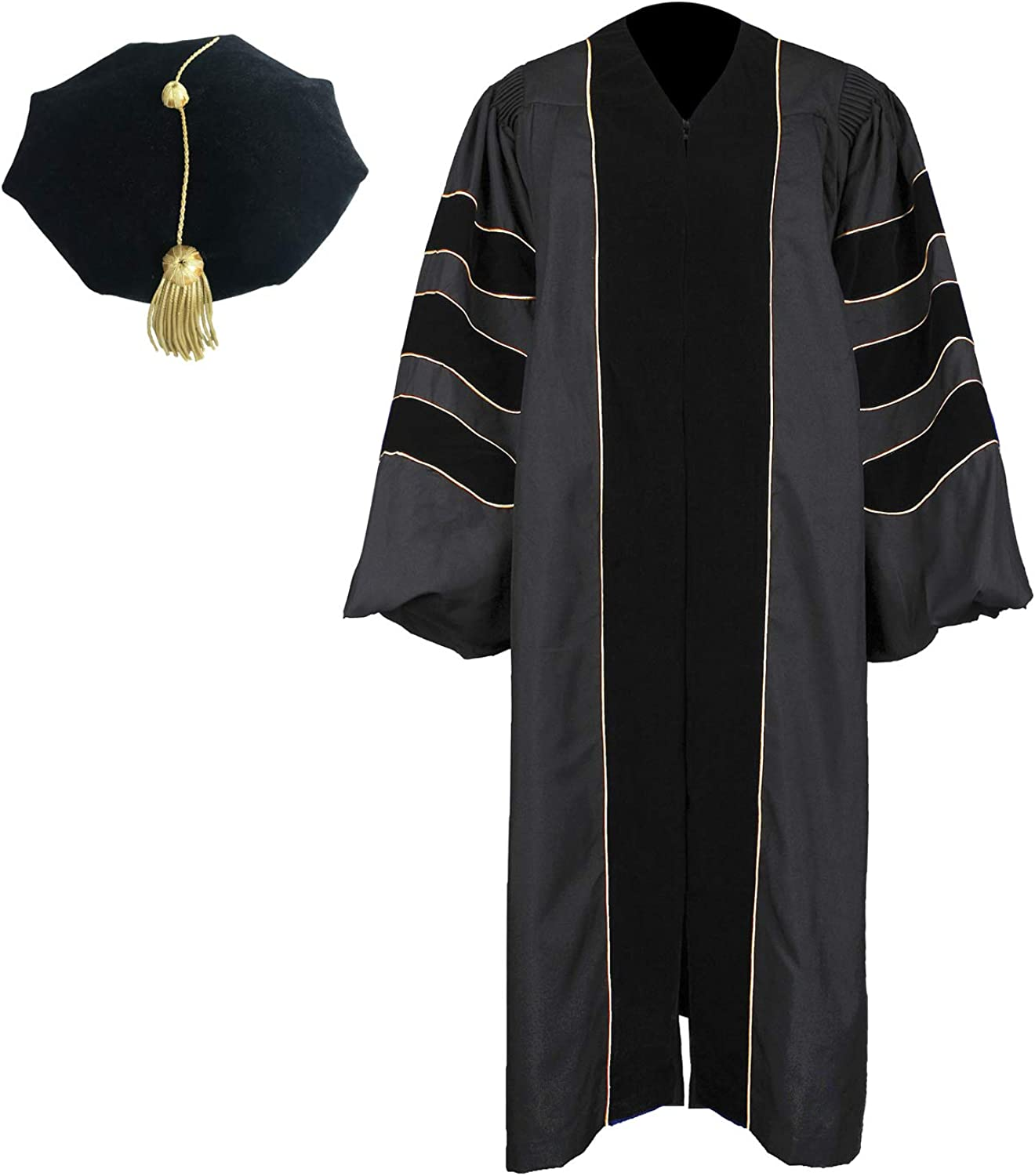 Newrara Unisex Deluxe Doctoral New mail order Cheap mail order shopping Gown Hood Graduation an