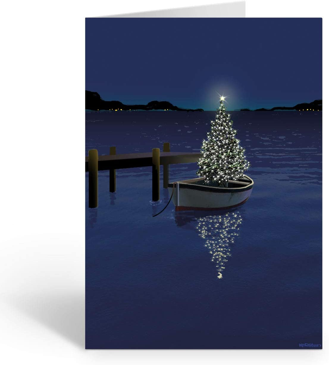 Holiday Marina Nautical Card 18 Cards and Envelopes