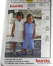 Burda 9985 Sewing Pattern Girls Top, Skirt & Crop Pants Size 2,3,4,5,6,7,8