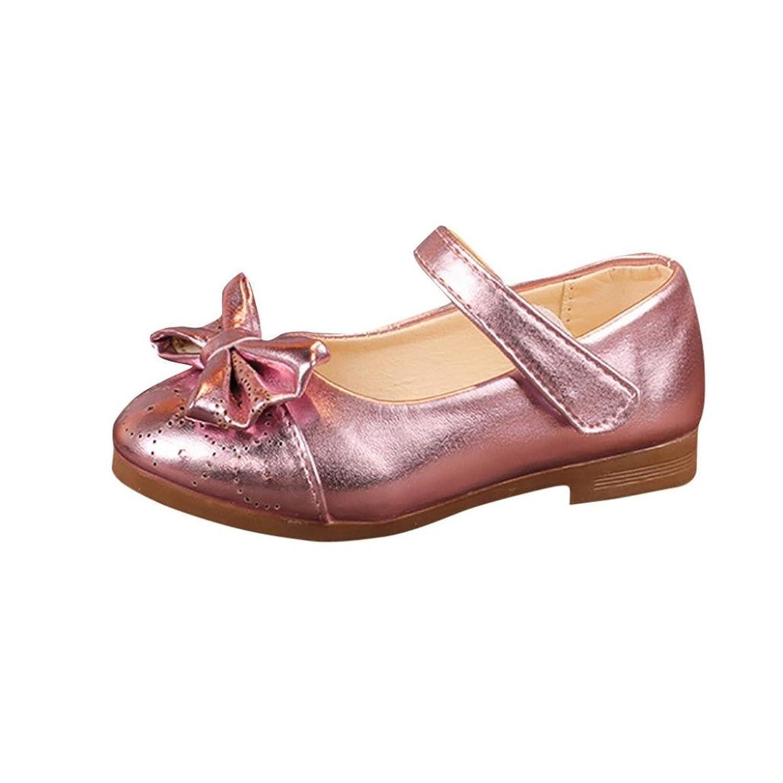 [Kukiwa] 子供靴女の子 蝶結ぶ プリンセス靴 レジャー靴 女の子靴フォー プンセスシューズ キッズューズ 滑り止め 履き脱ぎやすい 入学式 通園 誕生日プレゼント