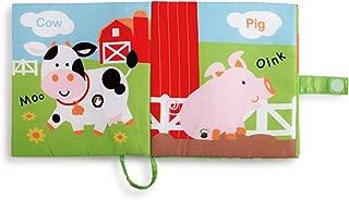 DEMDACO Happy Barnyard Friends Corn Rustic Red Children's Musical Soft Book Toy