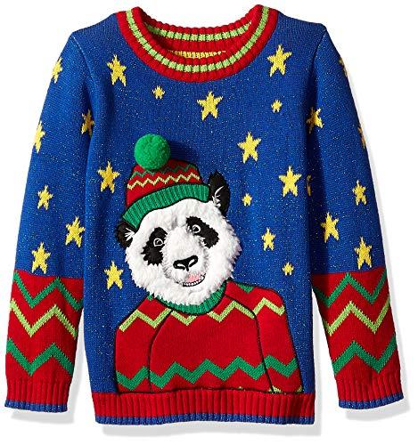 Blizzard Bay Boys Ugly Christmas Sweater Animals, Royal Combo, M 5