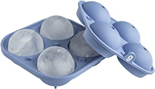 glacio Large Sphere Ice Mold Tray - Whiskey Ice Sphere Maker - Makes 2.5 Inch Ice Balls (Blue)