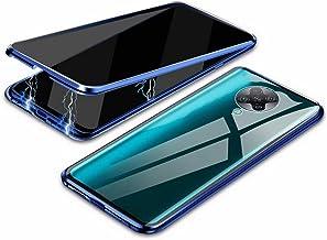 جراب EUDTH Xiaomi Redmi K30 Pro، جراب مضاد للبصر، إطار معدني ممتص مغناطيسي + غطاء من الزجاج المقسى جراب واقي للجسم بالكامل لهاتف Xiaomi Redmi K30 Pro 6.6 بوصة - أزرق