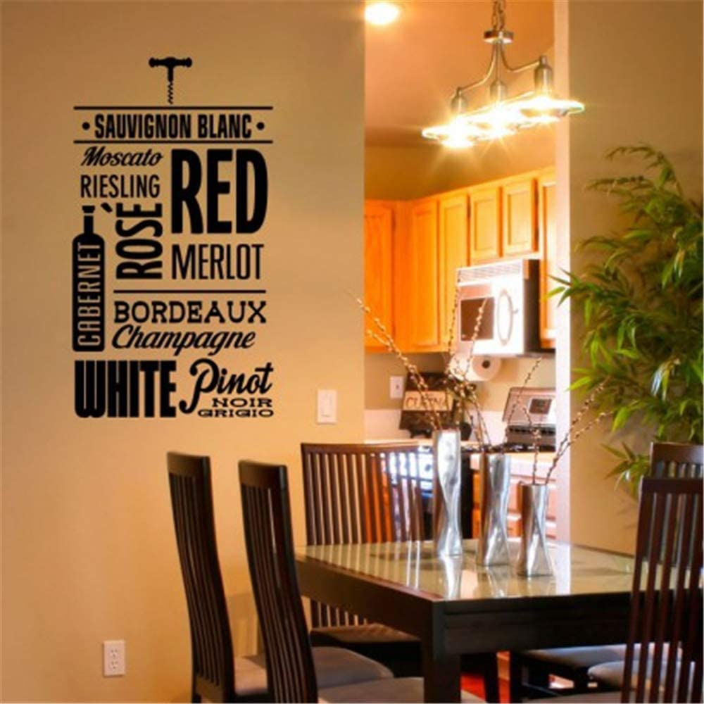 Vinyl Wall Sticker Decal Quote Home Decor French Kinds of Wines ...