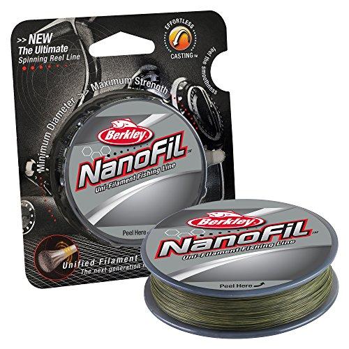 Berkley Nanofil Uni-Filament .005-inch Durchmesser Angeln Line, Unisex, Low Vis Green