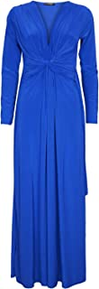 Women's Bridesmaid Evening Dinner Date Front Knot Twisted Maxi Dress