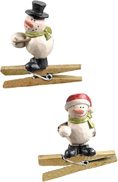 Blossom Bucket Set Of 2 Snowmen With Snowballs Ornaments