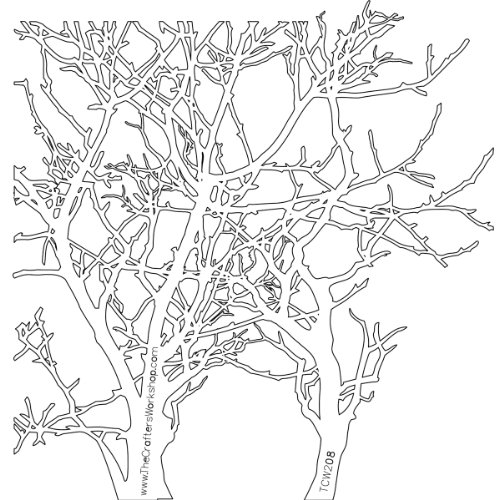 CRAFTERS WORKSHOP 474744 Template, 12 by 12-Inch, Branches