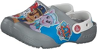 Crocs Kids' Paw Patrol Clog   حذاء مائي بدون رباط للأولاد والبنات، رمادي فاتح، J2 US طفل صغير
