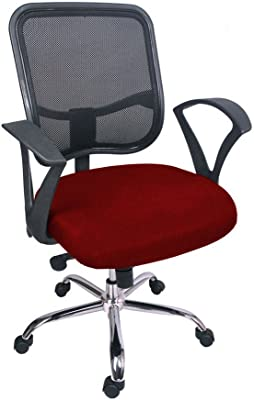 Hetal Enterprises Mesh Fiber Office Chair (Maroon)