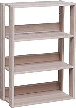 IRIS USA 3-Tier Wide Open Wood Bookshelf, Light Brown
