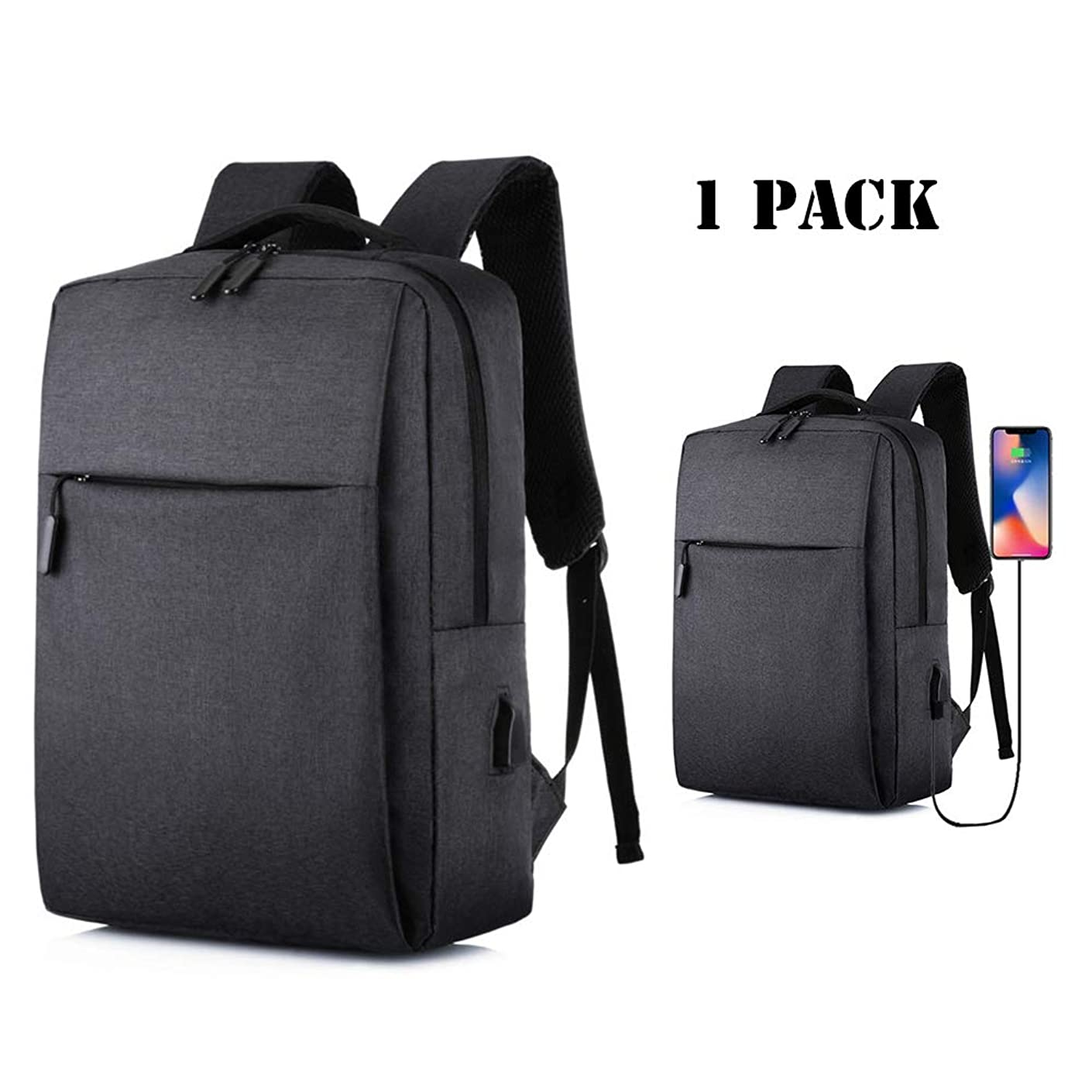 Emopeak 15.6 inch Laptop Backpack, Xbox One Backpack Travel Backpack with USB Charging Port for Men Womens Boys Girls, Anti-Theft Backpack Water Resistant College School Bag
