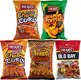Herr's Baked Cheese, Jalapeno, Hot, Honey & Old Bay Cheese Curls Variety 5-Pack