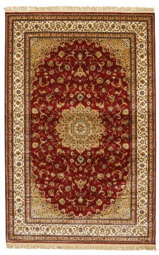 RugVista Teppich Nahal, Kurzflor, 200 x 300 cm, Rechteckig, Orientalisch, Öko-Tex Standard 100, Kunstseide, Schlafzimmer, Wohnzimmer, Mehrfarbig