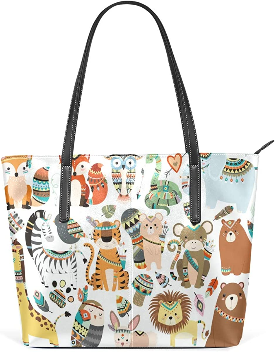 Cute Limited time trial price National Style Max 82% OFF Animal Women's Bag Lightweight Tote Large Sh
