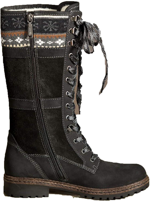 High end Winter Knee stövlar kvinnor Sexiga Lace Up Zipper Zipper Zipper Long stövlar Low Heel Booslipss skor  billigt och mode
