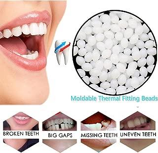 Snap On Instant Smile Teeth Moldable Thermal Fitting Beads Cosmetic Temporary Tooth Repair Kit Dental Makeover Denture Teeth Veneers