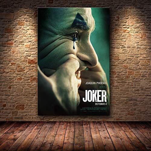 mmzki Hollywood Joaquin Phoenix Poster Drucke Joker Poster Film Comic Kunst Leinwand Ölgemälde Wandbilder Für Wohnzimmer Wohnkultur