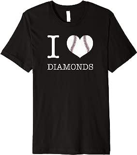 I Love Diamonds Baseball Premium T-Shirt