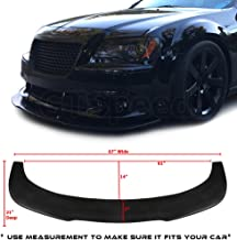 "GT-Speed - Universal Valance V2 PU Front Bumper Lip Flat Splitter Plate Under Panel Diffuser Chin Spoiler (Measure Your Bumper 67""L x 21""D Before Purchase)"