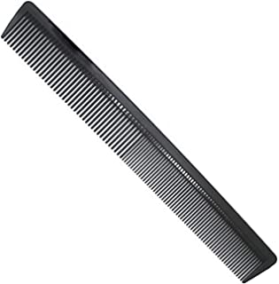 "Black Carbon Fiber Cutting Comb, Professional 8.15"" Styling Comb ,Anti Static Heat Resistant Hairdressing Comb For All Hair Types, Fine and Wide Tooth Hair Barber Comb"