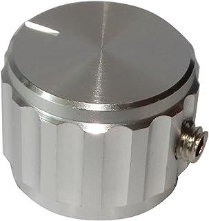 Bouton de potentiomètre alu gris axe 6mm Ø 35 x 12 mm DepE16h3