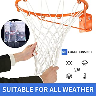 Spring Meow Basketball Net, Heavy Duty Outdoor Basketball Net Replacement for Basketball Hoop, Fits Standard Indoor or Outdoor 12 Loops Rim