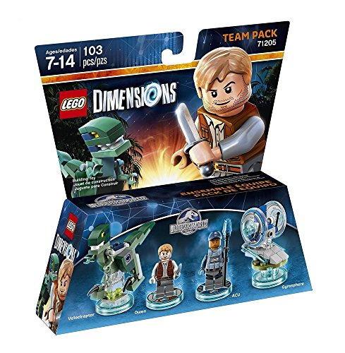 Figurine 'Lego Dimensions' - Owen & Trooper - Jurassic World : Pack Equipe
