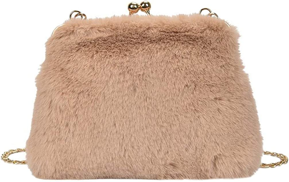 ABOOFAN Plush Shoulder Bag Spring new work Evening Clutch Winter Elegant Bags C Handbags