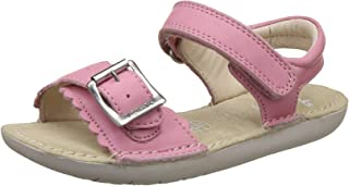 Clarks Girl's IvyBlossom Inf Pink Leather Walking Shoes