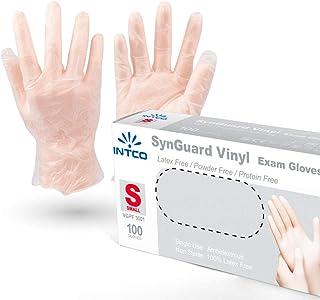 comprar comparacion VENSALUD - Guantes de VINILO desechables. Sin Polvo. Caja de 100 guantes. Color: Semi-Blanco (S)