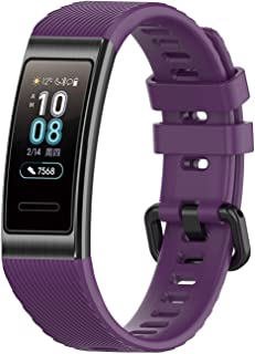 BarRan Watchband Replacement for Huawei Band 3 Pro, Silicone Sport Fitness Tracker Quick Release Wristband Bracelet Watch Strap for Huawei Band 3 Pro