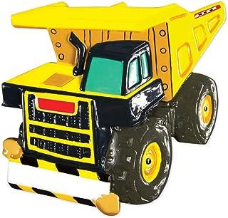 Personalized Dump Truck Christmas Tree Ornament 2019 - Yellow Mighty Lift Toy Machine Eye Tonka Caterpillar Construction Boy Toddler Holiday Pixar Car Colossus XXL Kid Gift Year - Free Customization