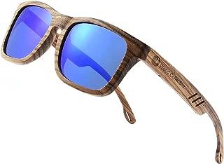 SKADINO Wood Sunglasses with Polarized lenses for Men&Women Handmade Bamboo Wooden Sunglasses