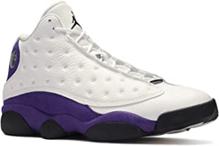Jordan Air 13 (White/Black/Court-Purple/Unive 8.5)