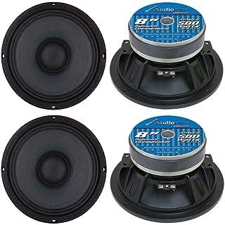 Audiopipe APMB8 8 Inch 2000 Watt Max Power 8 Ohm Low/Mid Bass Frequency Coaxial Midrange Car Audio Loudspeakers with Die C... photo