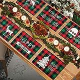 MTaoyac Weihnachten Deko, Weihnachts-Platzsets, Weihnachts-Tischsets und Untersetzer, rutschfest ,hitzebeständig, wasserdicht, Schmutzabweisend und Waschbare.(6er Set)