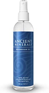 Ancient Minerals Magnesium Oil Spray Bottle of Pure Genuine Zechstein Magnesium Chloride - Topical Magnesium Supplement fo...