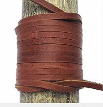 Lace Lacing Leather Topgrain Latigo Medium Saddle Brown 12 Feet 2 Pieces