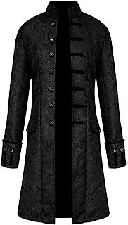H&ZY Men Steampunk Vintage Jacket Halloween Costume Retro Gothic Victorian Frock Coat Uniform