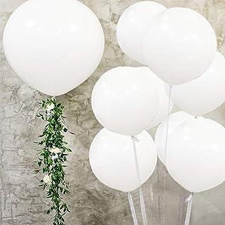 بالونات بيضاء من اللاتكس - بالونات كبيرة من اللاتكس - 91.44 سم بالون هيليوم عملاق بالونات كبيرة لتزيين الحفلات والمناسبات ...