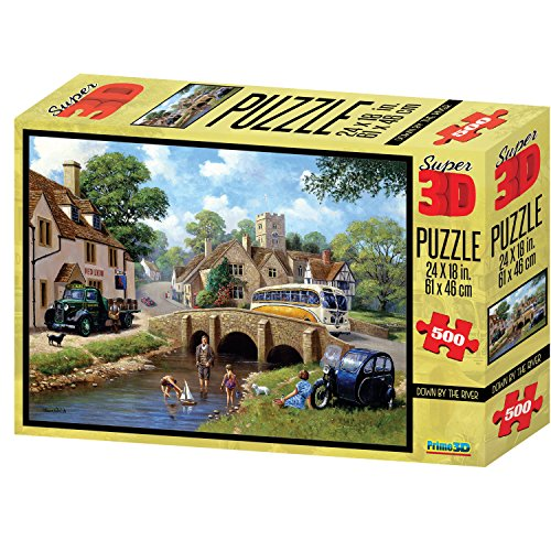 Kevin Walsh Kw10035 Down by The River Super 3D Puzzles (Lot de 500)