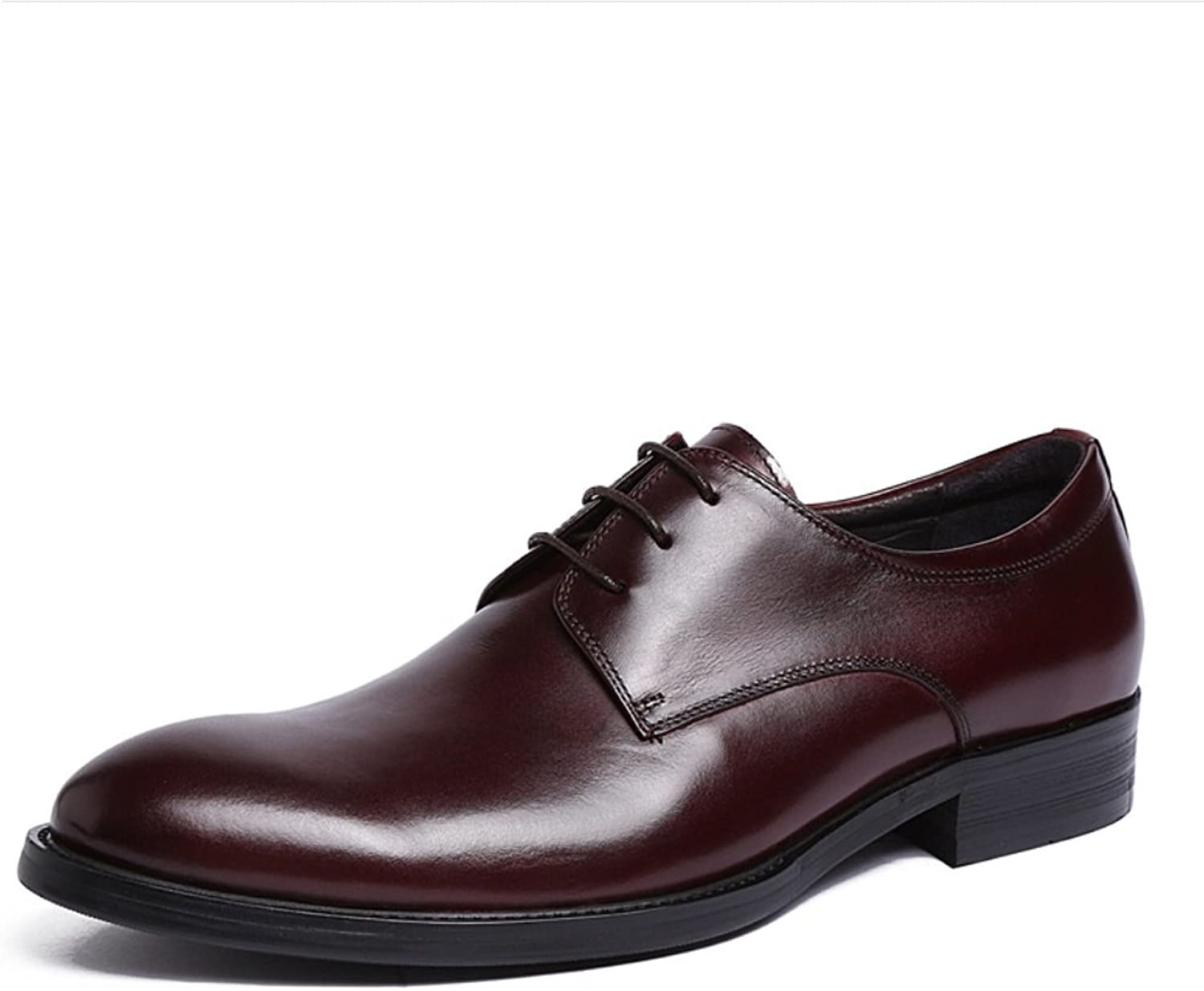 SHANGWU Men's Genuine Leather Leather shoes Men's Dress shoes Pure Leather Classic Wedding shoes Handmade Cattle Leather shoes