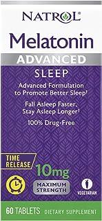 اقراص ميلاتونين لتحفيز النوم العميق من ناترول مضبوطة التحرر- 10 ملغم - 60 قرص