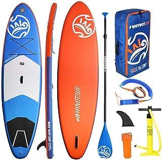 Fklee Lake Sup Paddle Board Tabla de Surf Stand-Up Board Juego de Tablas inflables con Paleta, Bomba de Aire, Kit de reparación y Bolsa de Almacenamiento Tabla de Surf