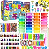 Byonebye 126 Pcs DIY Slime Making Kit for Girls Boys - Birthday Idea for Kids Age 5+. Ultimate Fluffy Slime...